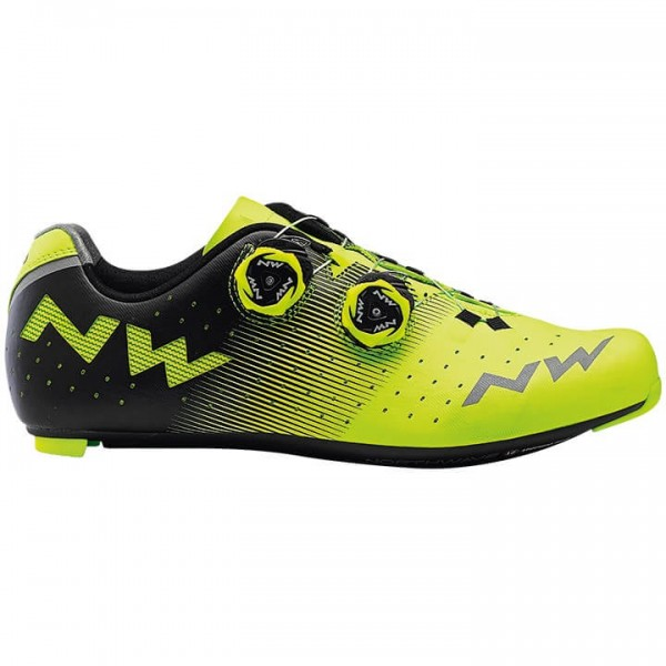 NORTHWAVE Revolution 2019 Road Bike Shoes neon yellow - black