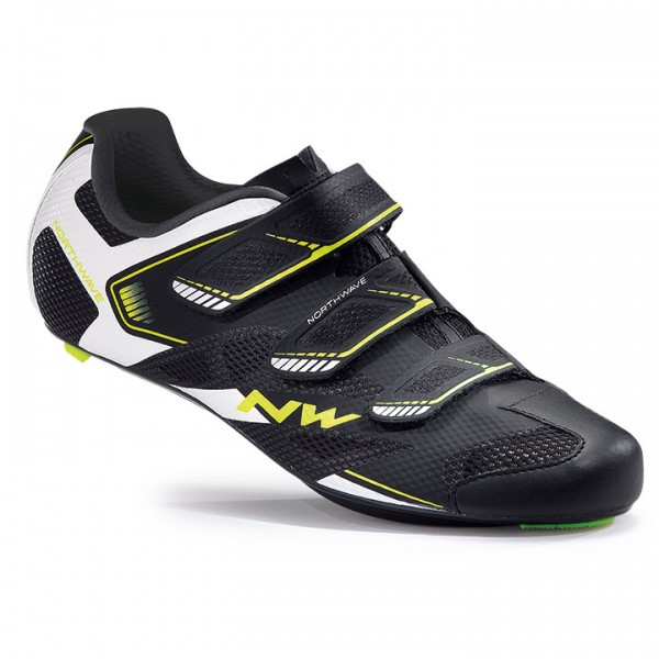 NORTHWAVE Sonic 2 2017 Road Shoes, black-white-yellow fluo white - black - yellow - multicoloured