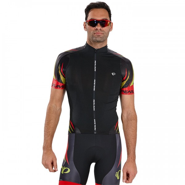 PEARL IZUMI P.R.O. Leader Habanero Short Sleeve Jersey, black-red-yellow
