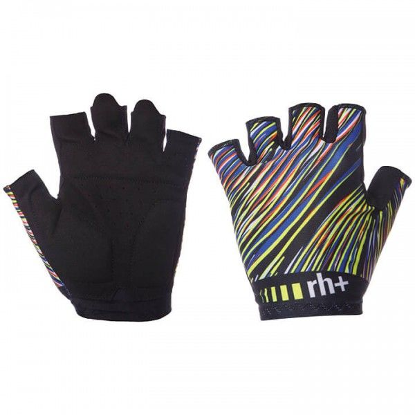 rh+ Fashion Cycling Gloves black - multicoloured