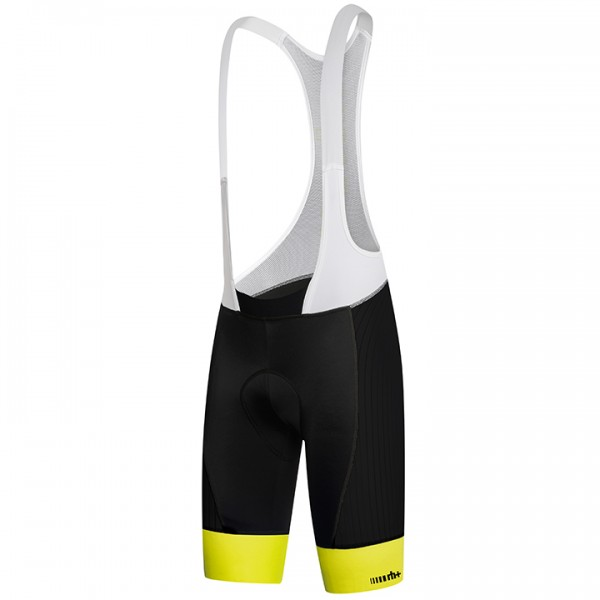 rh+ Hero Bib Shorts white - neon yellow - black - multicoloured