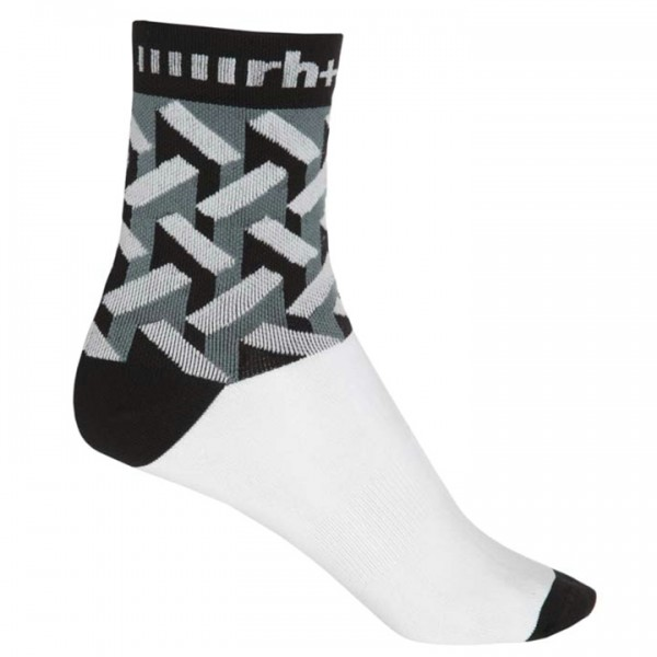 rh+ Lab 15 Cycling Socks white - black