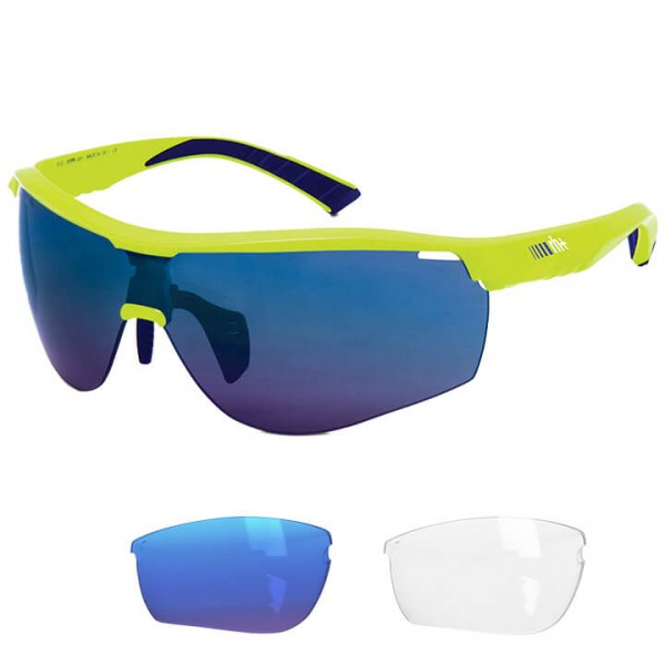 rh+ Legend 2019 Eyewear Set neon yellow - blue