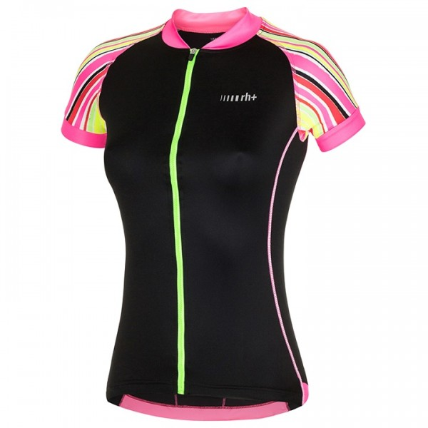 rh+ Paint Jersey neon yellow - black - fuchsia - multicoloured