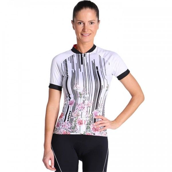 rh+ Venus Cycling Jersey white - black