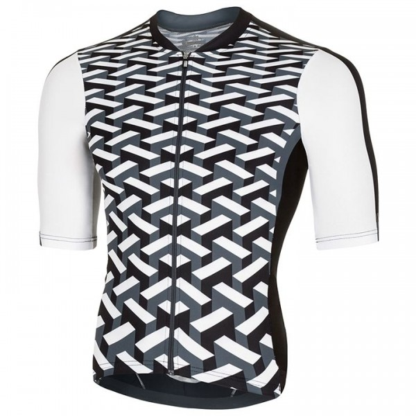 rh+ Vertigo Short Sleeve Jersey white - black