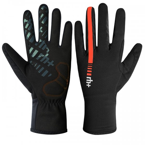 RH+ Wind Full Finger Cycling Gloves black - red