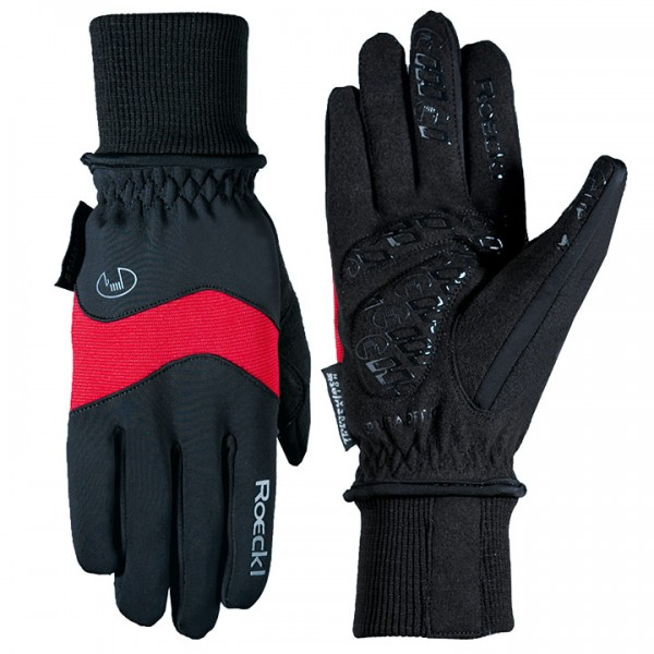 ROECKL Palacino Winter Gloves, black-red black - red