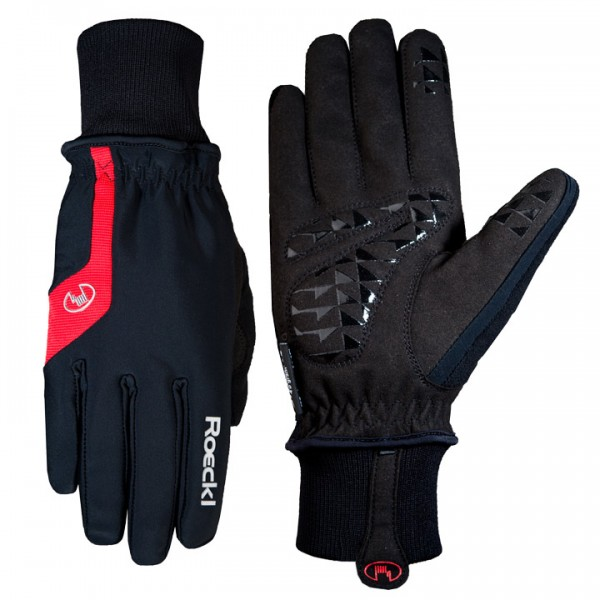 ROECKL Palmira jr. Winter Cycling Gloves black-red