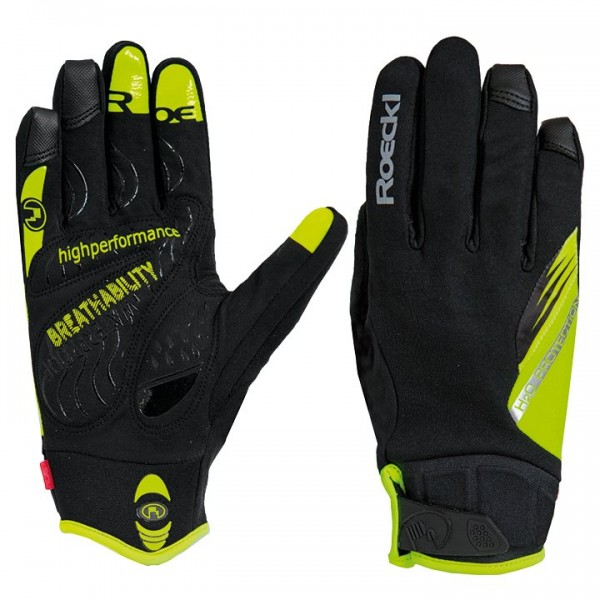 ROECKL Roden Winter Cycling Gloves neon yellow - black