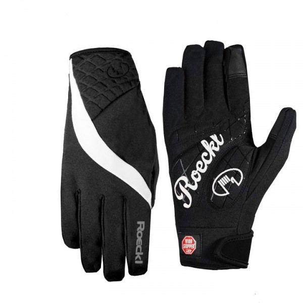 ROECKL Wengen Winter Cycling Gloves black-white