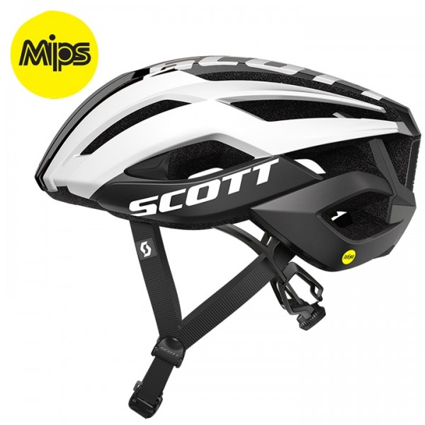SCOTT Arx Plus 2019 Road Bike Helmet white - black