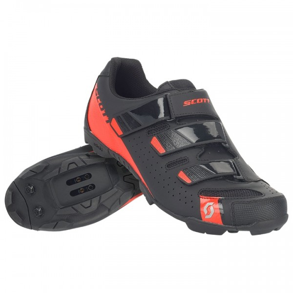 SCOTT Comp RS 2019 MTB Shoes black - red