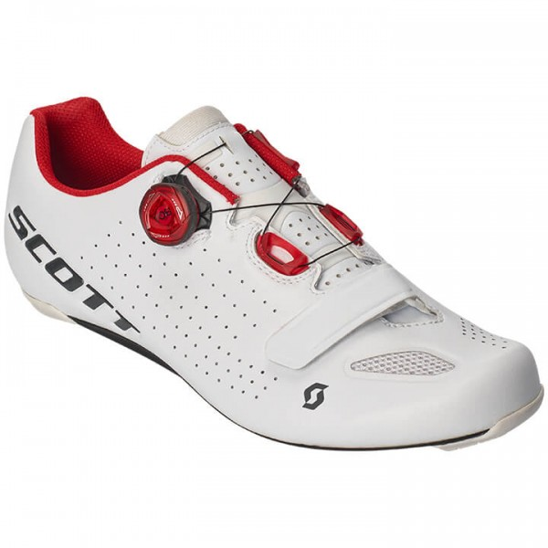 SCOTT Vertic Boa 2019 Road Bike Shoes white - red