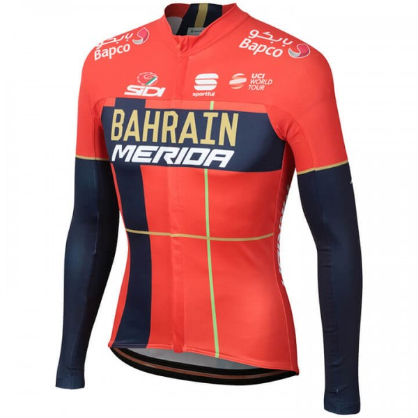 BAHRAIN-MERIDA 2019 Long Sleeve Pro Jersey