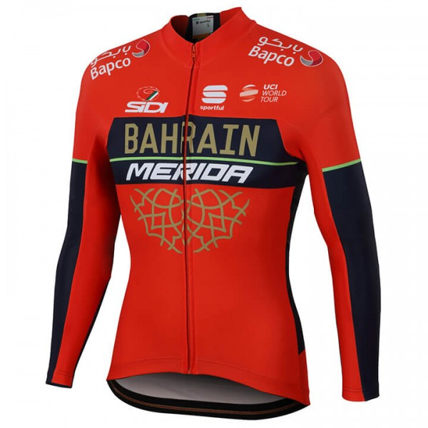 BAHRAIN-MERIDA Pro 2018 Long Sleeve Jersey