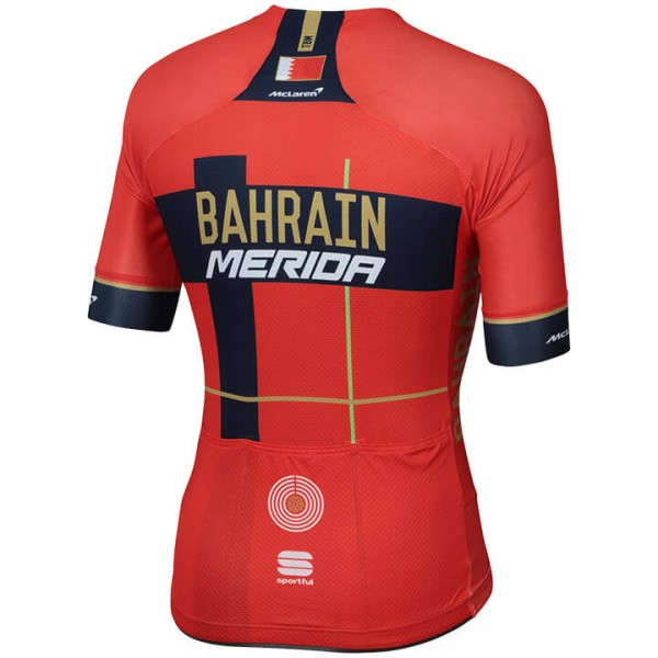 BAHRAIN-MERIDA Pro Race 2019 Short Sleeve Jersey