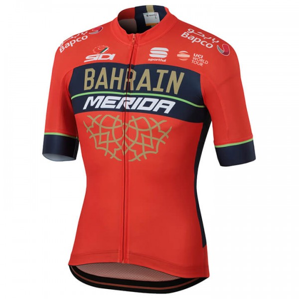 BAHRAIN-MERIDA Pro Team 2018 Short Sleeve Jersey