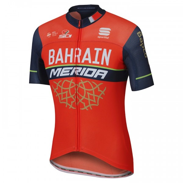 BAHRAIN MERIDA Short Sleeve Jersey Pro Race 2017