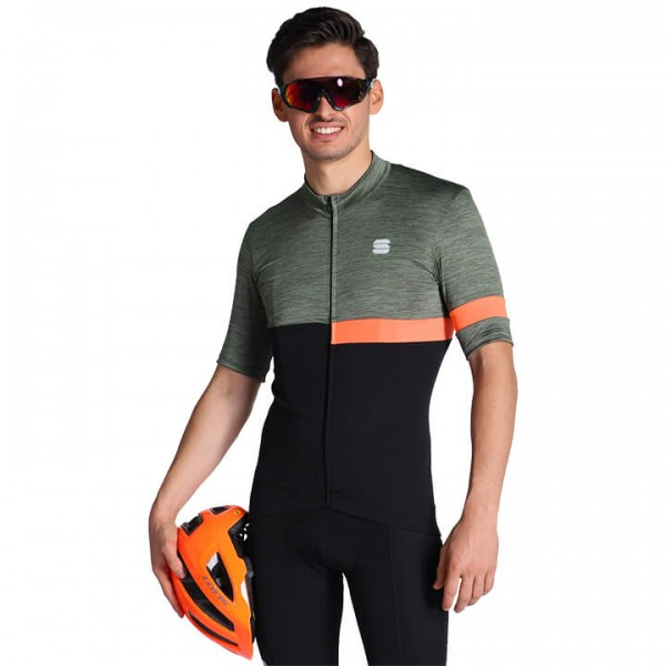 SPORTFUL Giara Short Sleeve Jersey black - green - orange - multicoloured