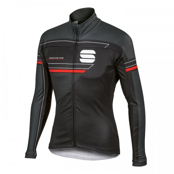 SPORTFUL Gruppetto Partial WS Winter Jakcet, black-charcoal grey-red