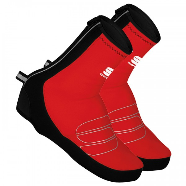 SPORTFUL Reflex Thermal Road Shoe Covers black - red