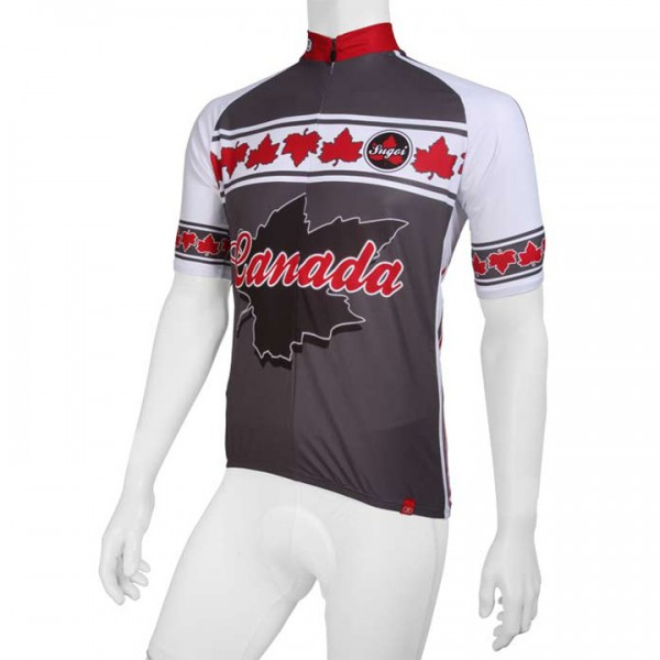 Sugoi jersey Canada grey-white-red