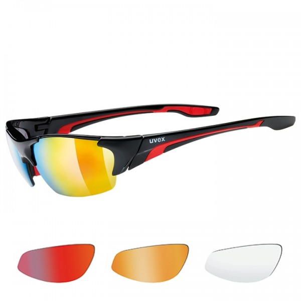 UVEX Blaze III 2019 Eyewear Set black-red black - red