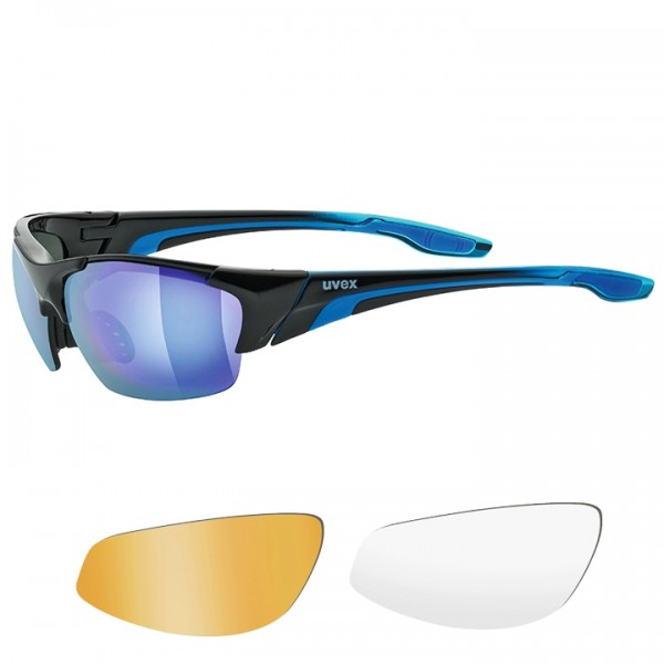 UVEX Blaze III 2019 Eyewear Set black - blue