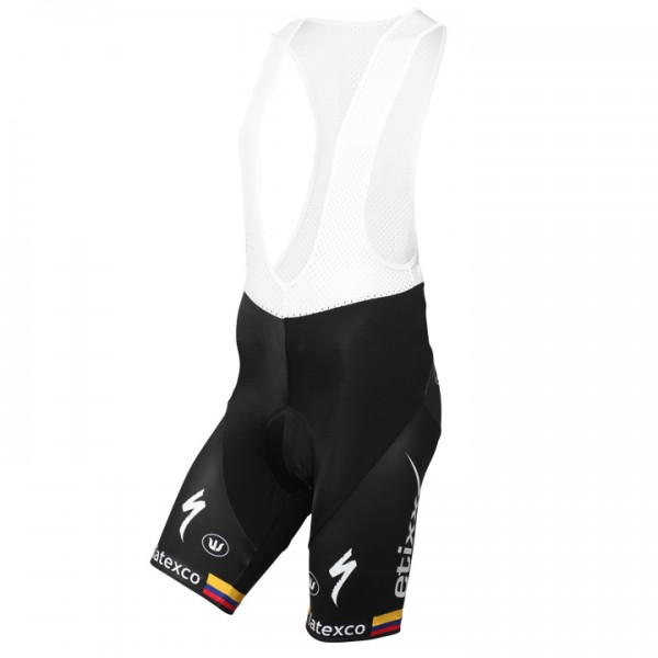 ETIXX-QUICK STEP Bib Shorts Colombian Time Trial Champion 2015-2016