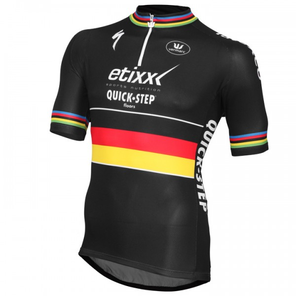 ETIXX-QUICK STEP Short Sleeve Jersey German Time Trial Champion