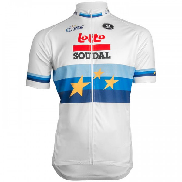LOTTO SOUDAL Short Sleeve Jersey European Champion 2019