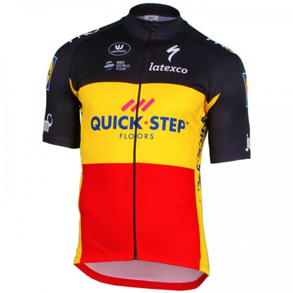 QUICK-STEP FLOORS Short Sleeve Jersey Belgian Champion 2018