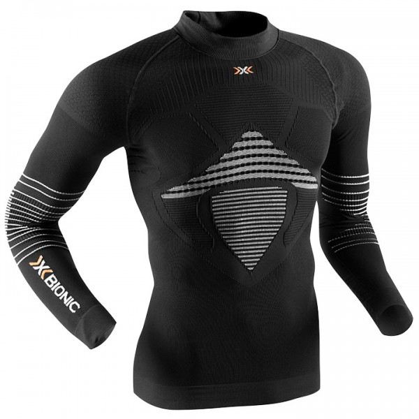 X-BIONIC Turtle Neck Energizer MK2 Long Sleeve Base Layer black-white