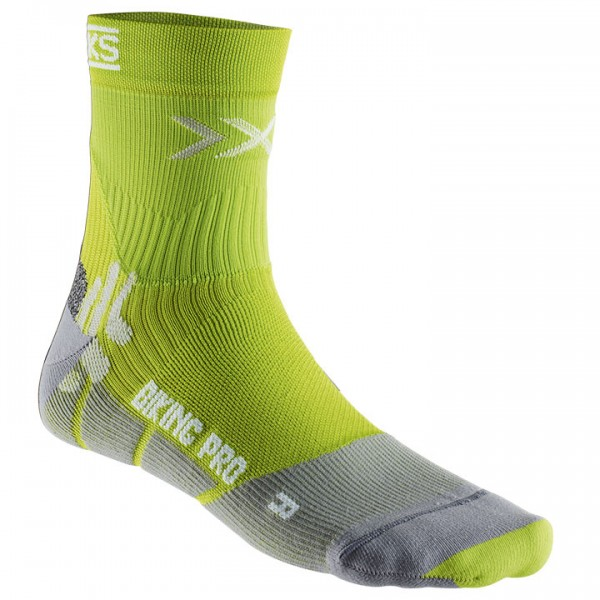 X-SOCKS Pro Smart Compression Cycling Socks green-grey